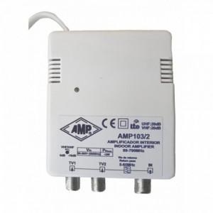 AMP103/2 Amplificador interior TDT 20dB con canal de retorno 5-65MHz