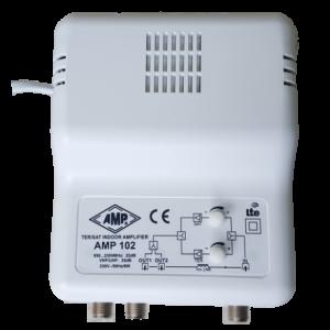 AMP102 Amplificador interior SAT+TV terrestre (LTE) 1 entrada 2S