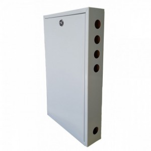 AMP060 Metallic cabinet 500x300x60 mm (Wood background)