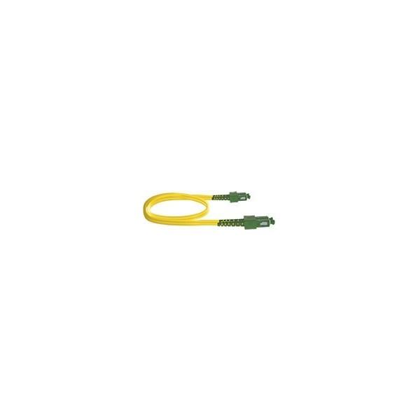 AMP852 Latiguillo dúplex SC/APC-SC/APC SM 9/125 G657A2 cubierta 3mm LSZH-FR amarilla 1 metro