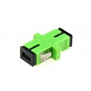 AMP910 Adaptador SC-SC APC SM símplex, zirconia, verde