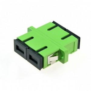AMP912 Adaptador SC-SC APC SM dúplex, zirconia, verde