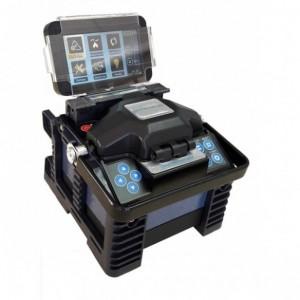 AMP948 Fusionadora de alta precisión de fibra óptica con holder para conectores. Incluye cleaver y accesorios