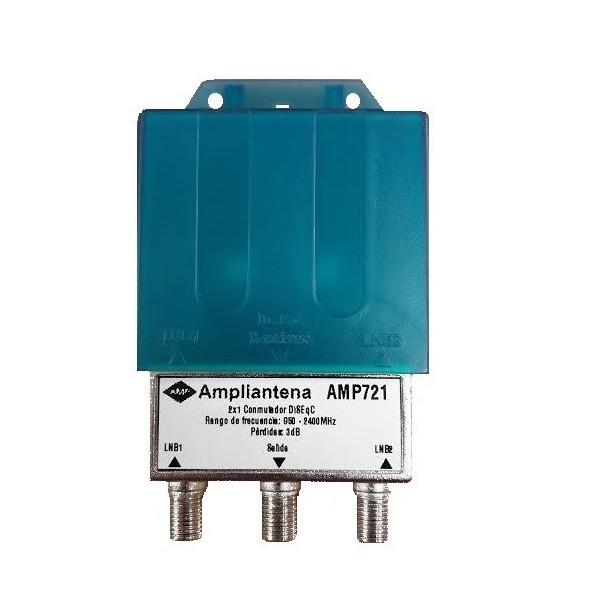 AMP721 Conmutador diseqc 1,0 universal A/B
