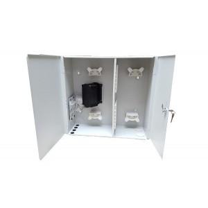 AMP940 Caja metálica RITI 2 puertas 2p Entrada/4p Salida, capacidad 72 fusiones + 72 adap. SC (no incluidos) 500x480x187mm