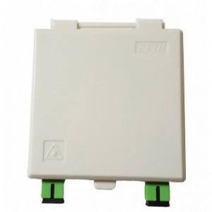 AMP928 Caja terminal interior FO 86x86x23mm con 2 adaptadores SC/APC incluidos