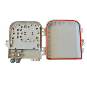 AMP931 Caja de empalme y distrib. interior 2p entrada / 8p salida, capacidad 8 fusiones + 8 adap. SC (no incl.), 181x207x45mm
