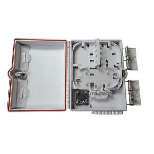 AMP932 Caja de empalme y distrib. interior 2p entrada / 16p salida, capacidad 12 fusiones + 16 adap. SC (no incl.) 304x236x104mm