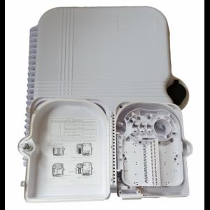 AMP933 Caja de empalme y distrib. interior 3p entrada / 24p salida, capacidad 24 fusiones + 24 adap. SC (no incl.) 313x274x114mm