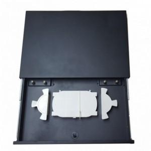 AMP934 Caja empalme interior con 2 bandx6 fusiones máx. 14f medidas 180x255x60mm sin llave