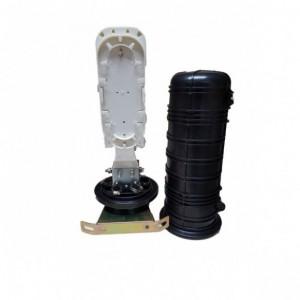 AMP930 Caja exterior IP68 2p Entrada/Salida, capacidad 18 fusiones (Máximo 30 fusiones) negra medidas 285x200x90mm