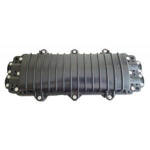 AMP936/1 Caja exterior IP68 horizontal 4p Entrada/Salida, capacidad 48 fusiones (Máximo 60 fusiones) negro medidas 460x200x111mm