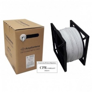 AMP538 Cable UTP Cat5E CCA LSZH Blanco, 305m, CPR Euroclass Eca