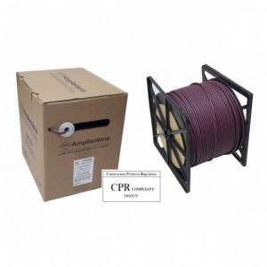AMP564 Cable UTP Cat6 LSZH Violeta, 305m, CPR Euroclass Eca