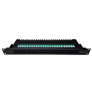 AMP669 Integrated patch panel 50 ports for rack of 19 inch 1U for UTP CAT3