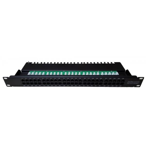 """AMP670 Panel de parcheo vacío 19"""" FTP 24 puertos 1U bastidor trasero"""