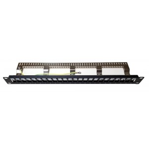 AMP674 Empty patch panel 24 ports for rack of 19 inch 1U for FTP CAT5E, CAT6 and CAT6A