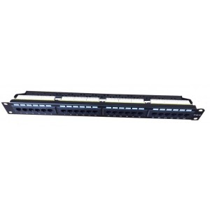 "AMP672/1 Panel de parcheo integrado UTP Cat6 19"" 24 puertos 180º 1U"