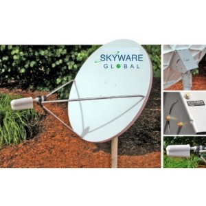 AMP92 Skyware 1.2m Receive-Only Antenna System