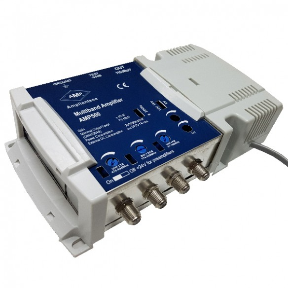 AMP500 Central Amplificación 4 entradas multibanda 40 dB satélite
