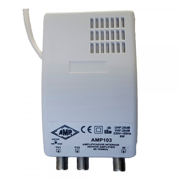 TV Indoor amplifier 1 input 2 outputs