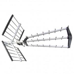 Digital UHF TV Antenna triple foldable CH/21-49 gain 16,5dB LTE700/5G