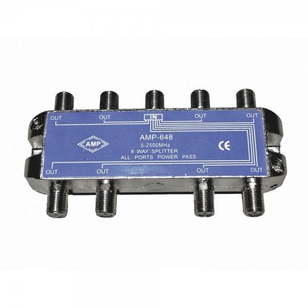 AMP648 Distribuidor Blindado 5-2500 MHz 8 salidas