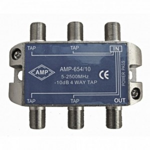 AMP654/10 4 Way Tap 10dB