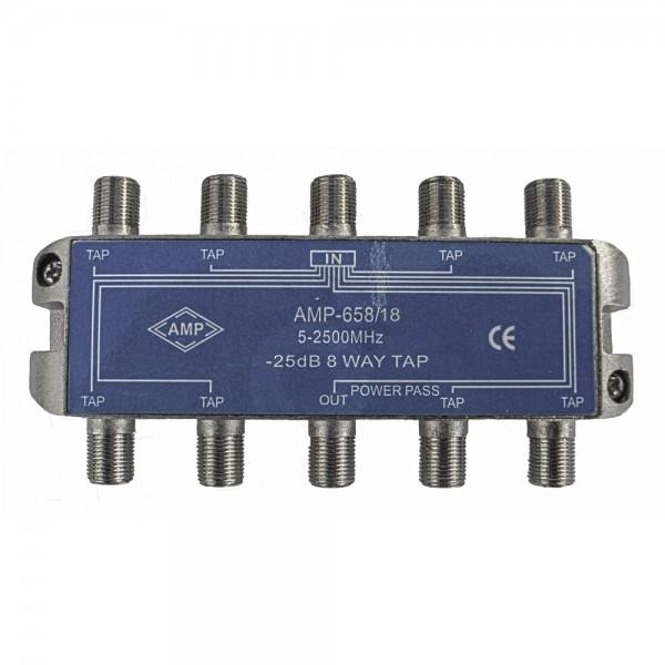 AMP658/18 Derivador directivo 8 derivaciones 18dB