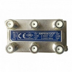 AMP654/18CF 4 Way Tap 18dB
