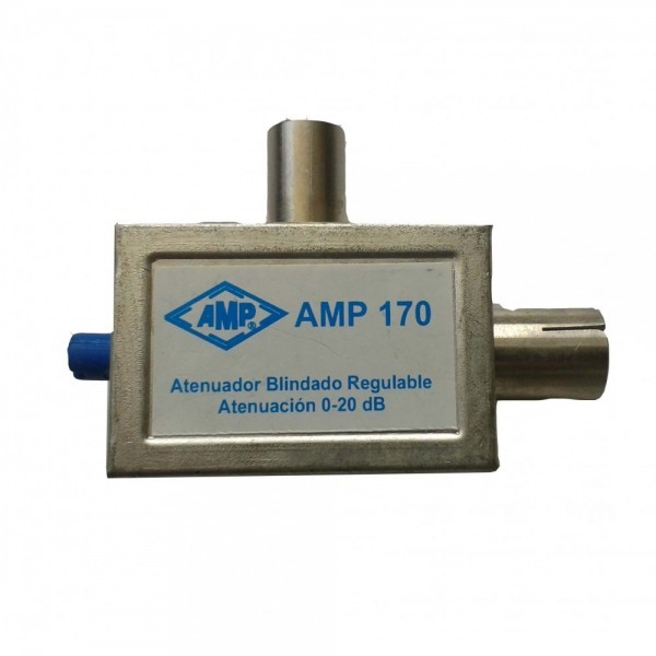 AMP170 Atenuador variable UHF potenciómetro 0/20dB