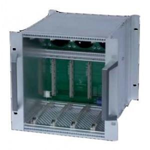 AMP736 Subrack ventilado con Backplane 3V capacidad Fte + 3 módulos 5Ux36x225mm