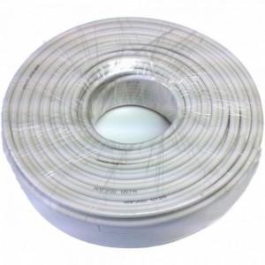 AMP900 Cable coaxial AL/CU acerado cubierta blanca 100 metros