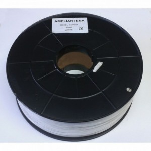 AMP904N Cable coaxial CU/CU carrete plástico cubierta negra 100 metros