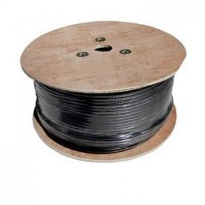 AMP908 Cable coaxial troncal RG11 CU/CU bobina de madera 300 metros negro