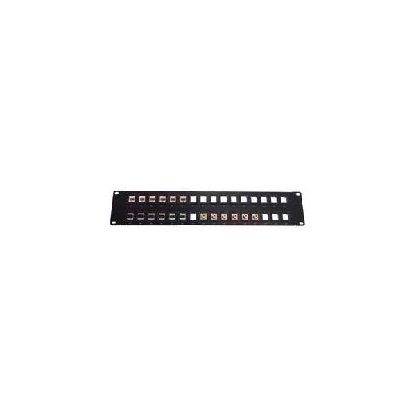 "AMP686 Panel multimedia 19"" vacío para 32 puertos keystone 2U negro"