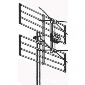 "AMP60 Antena panel 2 dipolos CH/21-60 ganancia 10,5 dB  ""LTE"""