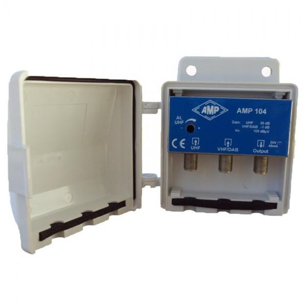 AMP104 Amplificador 2 entradas UHF 30 dB