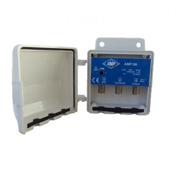 AMP106 Amplificador 2 entradas VHF 26 dB y UHF 30 dB