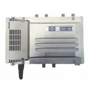 """AMP406 Central blindada cubierta zamak 4 Entradas/40dB (BI+FM/BIII+DAB/2 UHF) 128dBuV """"LTE"""""""