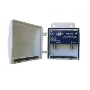 AMP214 Filtro de mástil blindado LTE 15dB (791/860MHz)