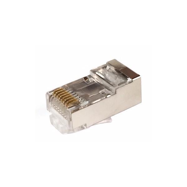 "AMP730 Conector RJ45 macho Cat.5E 3p 8p8c 6u"" apantallado"