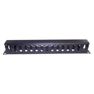 "AMP631 Organizador cables metálicos 19"" 1U con tapa"