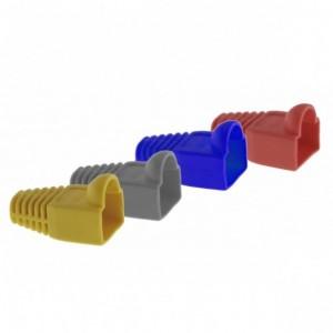 AMP740 Capuchón PVC para conector RJ45 macho (gris, amarillo, rojo, azul)