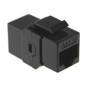 AMP742 Conector acoplador en línea Cat.6 UTP RJ45/RJ45 negro