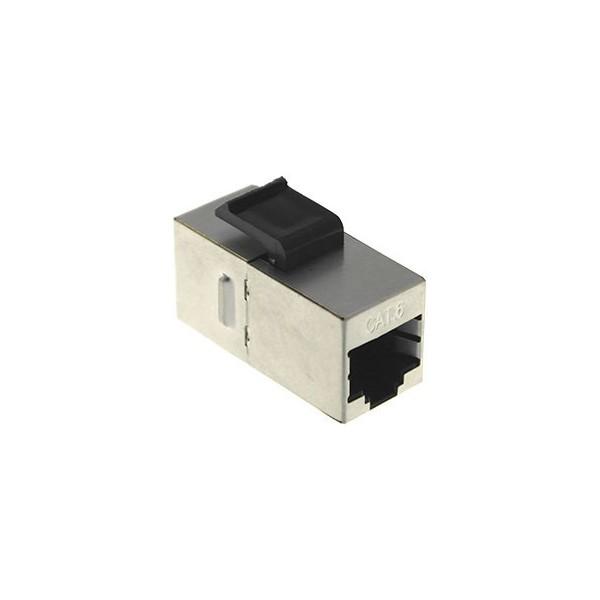 AMP744 Conector acoplador en línea Cat.6 FTP RJ45/RJ45 metálico