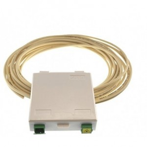 MP826 Connected duplex pigtail of 15 metres Kit on one side + box +  2 adaptors SC/APC