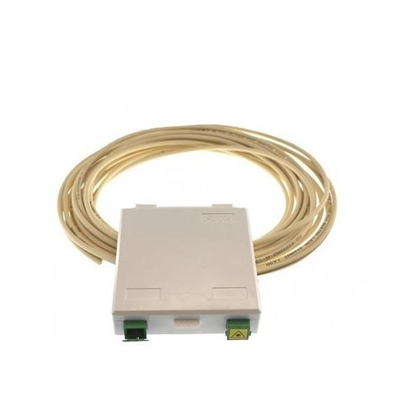 AMP830 Conjunto pigtail dúplex reforzado pre-conectorizado 40 metros con caja terminal + 2 adaptadores SC/SC APC