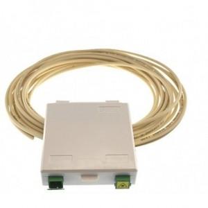 AMP830 Conjunto pigtail dúplex pre-conectorizado 50 metros con caja terminal + 2 adaptadores SC/APC