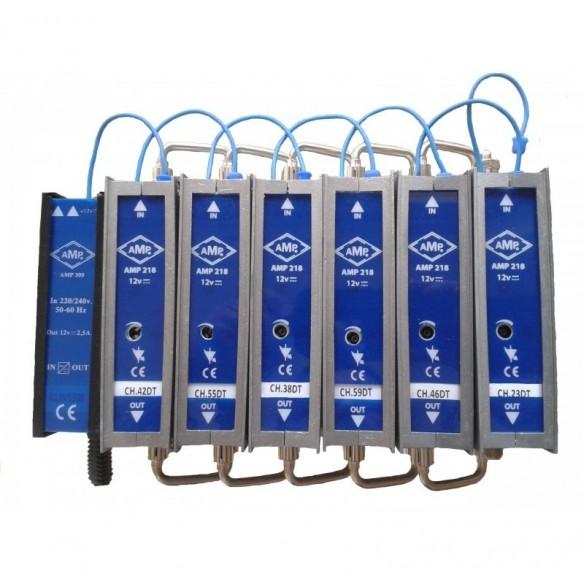 Amplificación modular alimentación 12Vcc